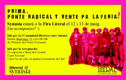 Synusia estarà present a la Literal, fira d'idees i llibres radicals