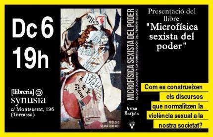 """Presentació llibre """"Microfísica sexista del poder"""""""