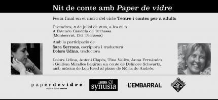 [Cicle teatre i contes] Nit final amb Paper de vidre