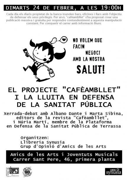 """[Xerrada] """"Projecte Cafèambllet i la defensa de la sanitat pública"""