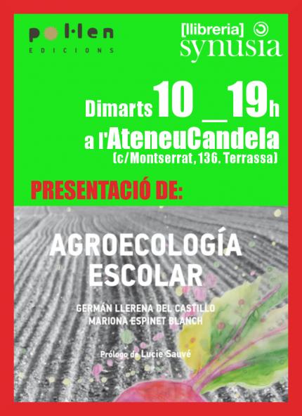"""[Presentació llibre] """"Agroecologia escolar"""""""