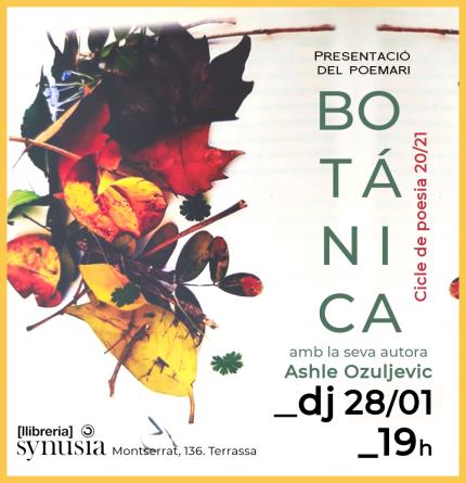 [Presentació ONLINE poesia] Botánica