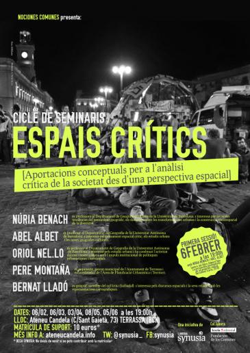 [Espais Crítics] Sessió 1: Sobre la justícia espacial i la rellevància de l'espai per a l'anàlisi social