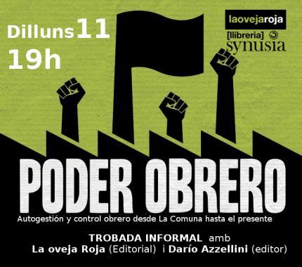 """Trobada al voltant del llibre """"Poder Obrero"""""""