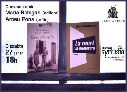 [Conversa] Diàleg amb Maria Bohigas i Arnau Pons