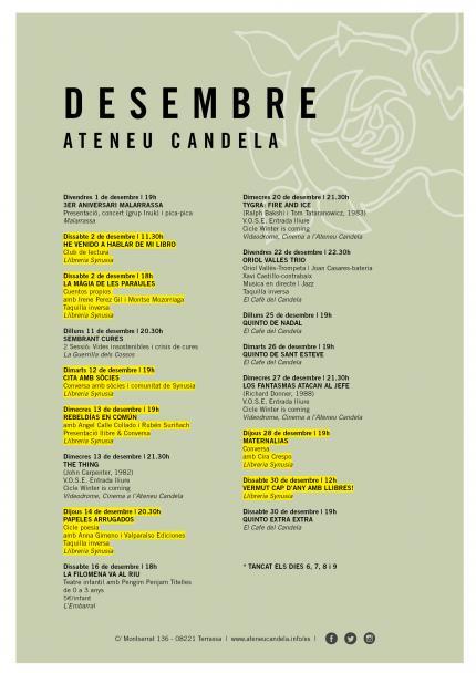 PROGRAMACIÓ   Desembre '17