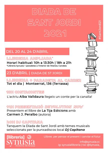 Sant Jordi 2021 a la Llibreria Synusia