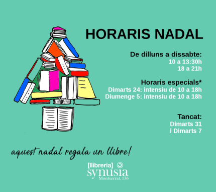 Horaris de Nadal a la llibreria Synusia